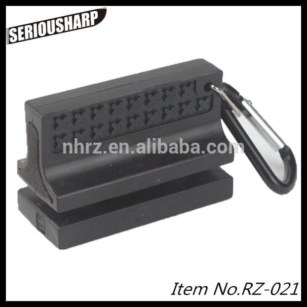 Rapid Delivery for Multifunction Sharpener - black mini knife sharpener – Renzhen
