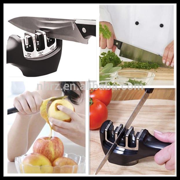 Best quality Plastic Knife Sharpener - Home and Kitchen 3 stage pull through knife sharpener – Renzhen