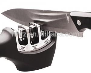 Cheapest Factory Findking Brand 3 Stages (diamond Ceramic) Fish Shape Kitchen Knife Sharpener Household Knife Sharpener