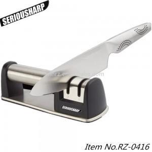2-Stage Diamond Coated hjulsystem Knife Sharpener for rett og taggete kniver