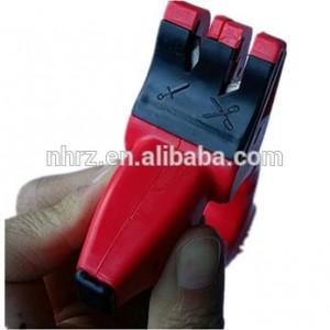 Multipurpose knife and scissors sharpener with non-slip feet
