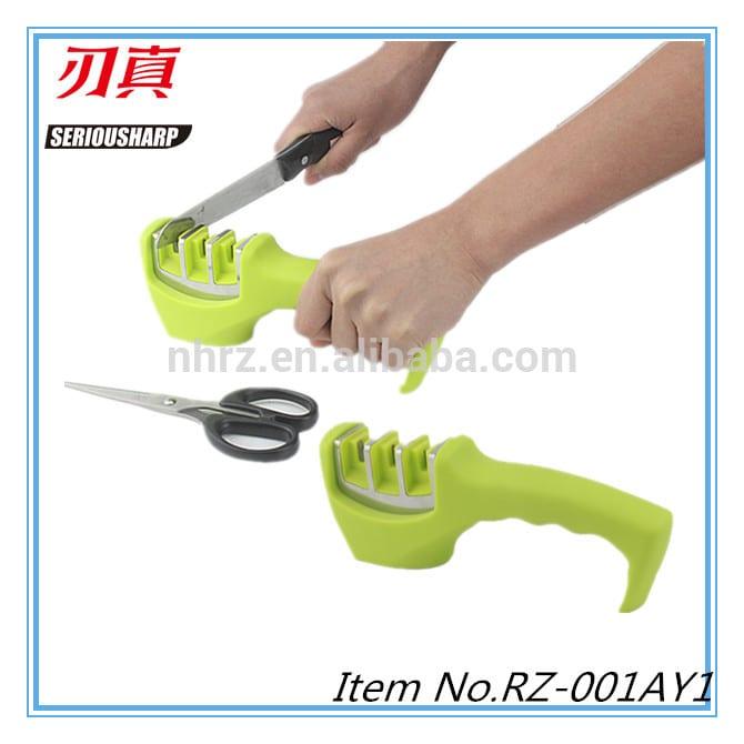 Professional Chef Pad Kitchen Sharpening Tool Knife Sharpener Scissors Grinder Secure sharpener for knives Featured Image