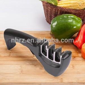 garden tool diamond hone 3 stage manual knife sharpener