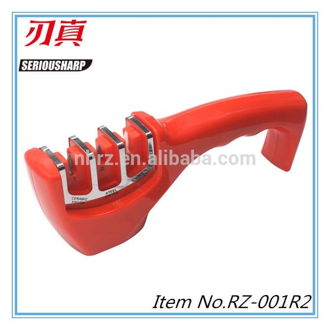 China wholesale Mini Ceramic Knife Sharpener - 3 stage ceramic knife sharpener – Renzhen