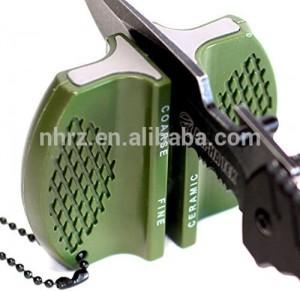 Outdoor Multifunction Mini Pocket Knife Sharpener with Keychain Hole
