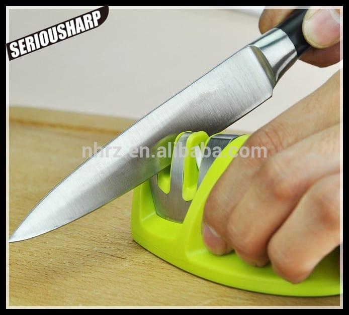 Kitchen Accessory AS SEEN ON TV Smart Kitchen Gadget 2 stage kitchen knife sharpener Featured Image