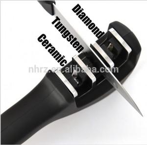 Advanced 3 Stage Kitchen Knife Sharpener for Steel and Ceramic Knives