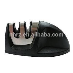 V-Grip Edge Blades 2-stage Kitchen Knife Sharpener System Black with Comfortable Non-Slip Grip