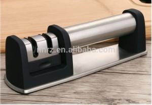 Black Knife Sharpener for straight knives 2 Stage Coarse and Fine Kitchen Knife Sharpening System