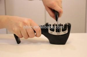 professional FDA plastic kitchen 3 stage knife sharpener