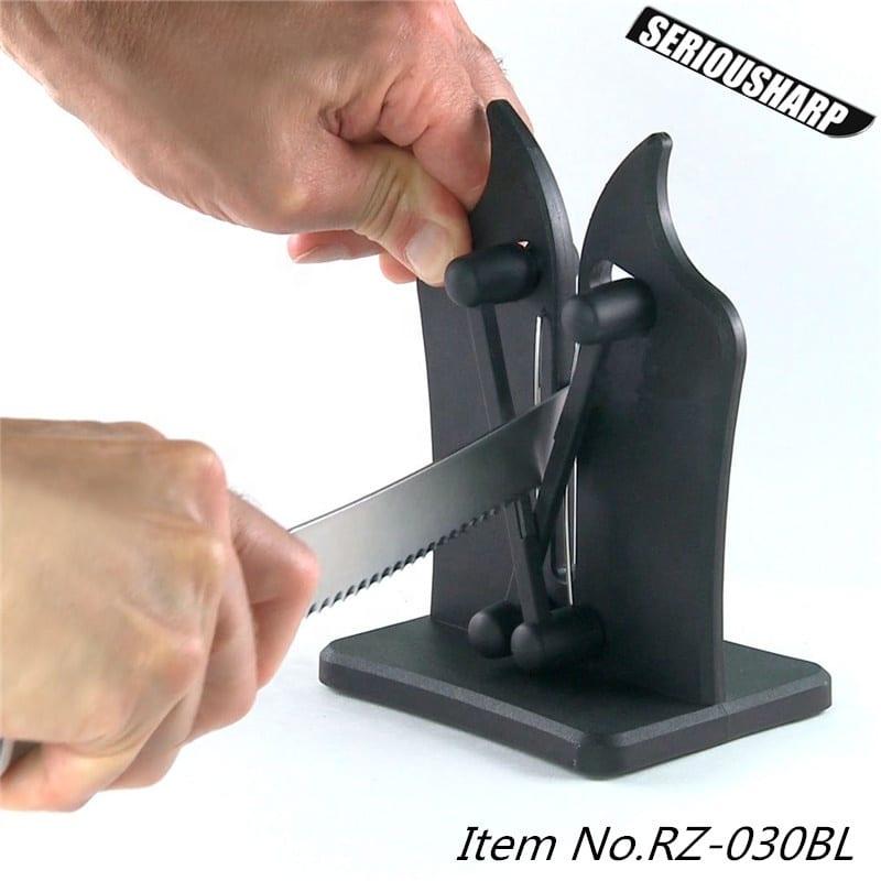 Classic Tungsten Carbide Knife Sharpener with black matt surface
