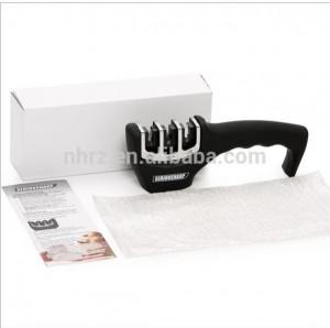 Knife Sharpener 3 Stage with Soft Grip Handle Handheld Scissor Sharpener New